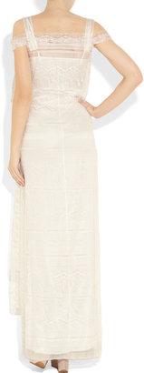 Alberta Ferretti Silk and lace gown