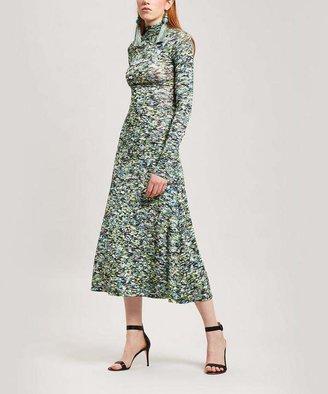 64a181ba7b2 Rosetta Getty Half Zip Foam Print Midi-Dress