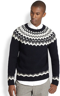 Vince Nordic Print Crewneck Sweater