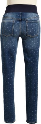 Old Navy Maternity Low-Panel Printed Skinny Jeans