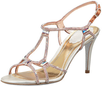 Rene Caovilla Crystal Slingback Sandal