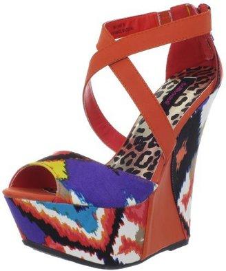 Dollhouse Women's Mayans Wedge Sandal