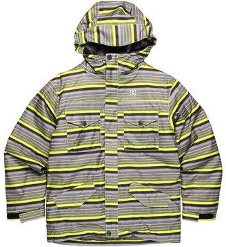 DC Kids - Servo K 13 Jacket (Little Kids/Big Kids) (Lime Stripes) - Apparel