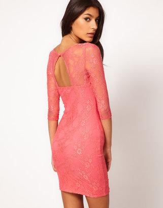 Asos Lace Dress with Cut Out Back