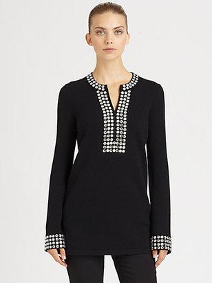 Michael Kors Jeweled Cashmere Tunic