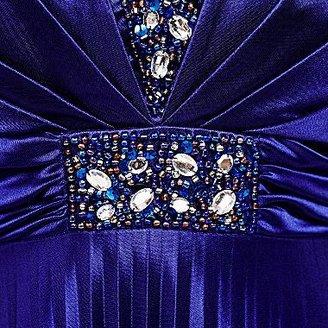 My Michelle Pleated Split-Bust Dress