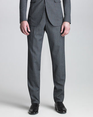 Burberry Houndstooth Suit Trousers