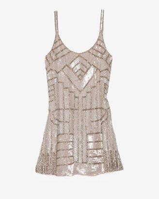Parker Hayden Sequined Tank Dress