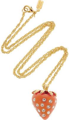 Kenneth Jay Lane Strawberry pendant necklace