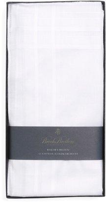 Brooks Brothers Pure Cotton Handkerchiefs - 13pk