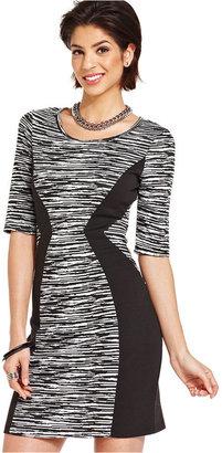 Amy Byer Printed Contour-Panel Dress