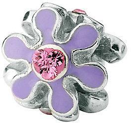 Prerogatives Sterling Purple Flower w/ Swarovski Crystal Bead $44 thestylecure.com