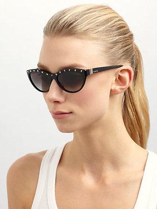 Valentino Rockstud Cat's-Eye Sunglasses