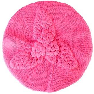 Lowie Leaf & flower knitted beret