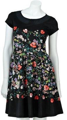 Lauren Conrad floral ponte dress