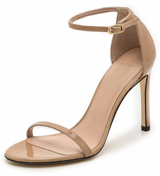 Stuart Weitzman Nudistsong 90mm Sandals $398 thestylecure.com