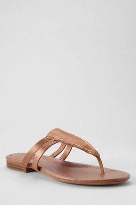 Lands' End Women's Shea Flat Leather Sandals