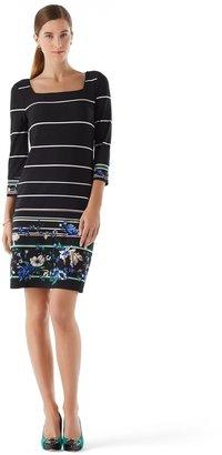 White House Black Market Floral Knit Shift Dress