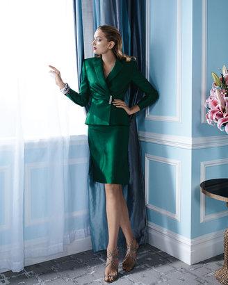 Tahari Pleated-Jacket Skirt Suit
