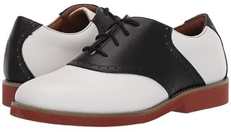 School Issue Upper Class (Adult) (White/Black Leather) Girl's Shoes