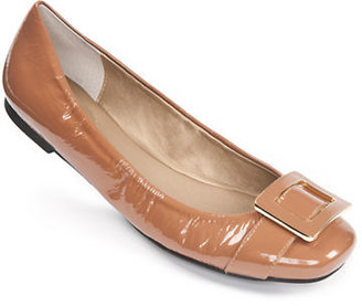 Me Too Maci Leather Flats with Buckle Accent