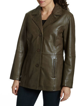 Excelled Leather Excelled Button-Front Jacket $425 thestylecure.com