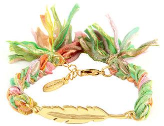 Ettika Vintage Feather Charm Bracelet
