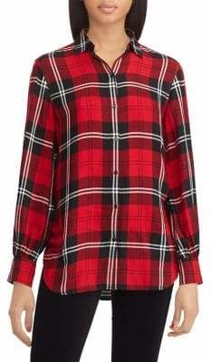 Chaps Petite Plaid Button-Down Shirt