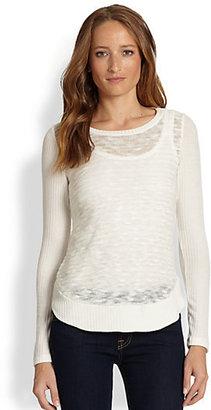 Splendid Preside Burnout-Knit Sweater