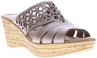 Spring Step Nubuck Wedge Sandals - Vino