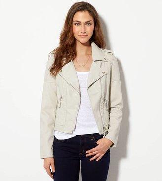 American Eagle AE Vegan Leather Moto Jacket