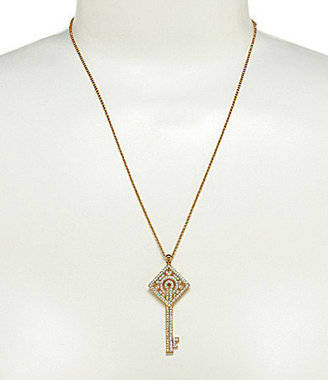 Nadri Pave Key Pendant Necklace