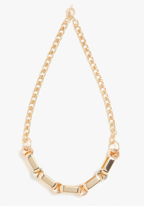 Bebe Mixed Multi Chain Link Long Necklace