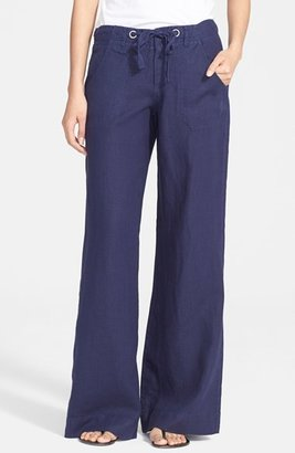 Women's Joie Wide Leg Linen Pants $198 thestylecure.com