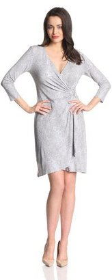 Calvin Klein Women's Print Drape Dress with Hardware