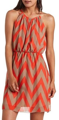 Charlotte Russe Chevron Stripe Shift Dress