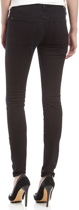 7 For All Mankind Gwenevere Skinny Jeans, Black Night