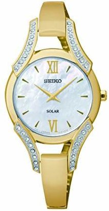 Seiko Women's SUP216 Swarovski Crystal-Accented Stainless Steel Bangle Watch $285 thestylecure.com
