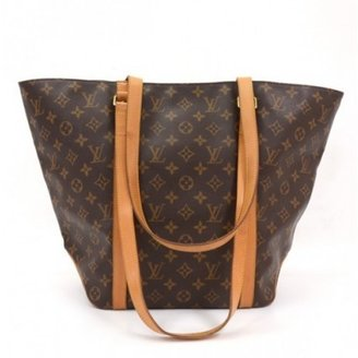 Louis Vuitton very good (VG Brown Monogram Canvas Sac Shopping Shoulder Tote Bag