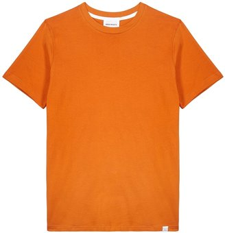 Norse Projects Niels Orange Cotton T-shirt