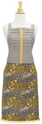 Sur La Table Gray Floral Vintage-Inspired Apron
