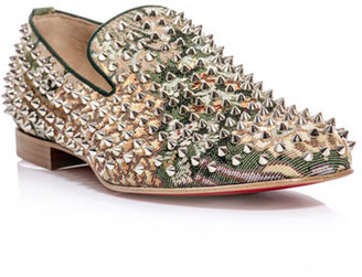 Christian Louboutin Rollerboy spiked tapestry loafer