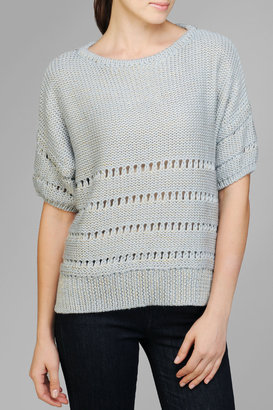 7 For All Mankind Chunky Sweater In Glacier Blue