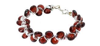 Lori Kaplan Jewelry - Garnet Sterling Signature Bracelet