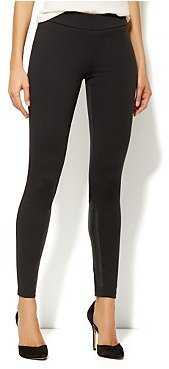 New York & Co. Faux-Leather Inset Leggings