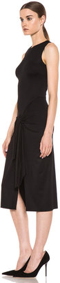 Cushnie et Ochs Viscose Jersey Sarong Dress in Black