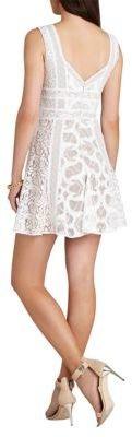 BCBGMAXAZRIA Kelley Sleeveless Lace Blocked Dress