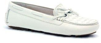 """Bottega Veneta Bottega """"283058"""" White Leather Diriver"""