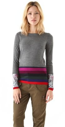Markus Lupfer Sequin Stripe Sweater