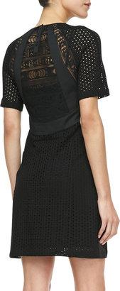 Nanette Lepore Nomad Lace-Overlay Dress, Black